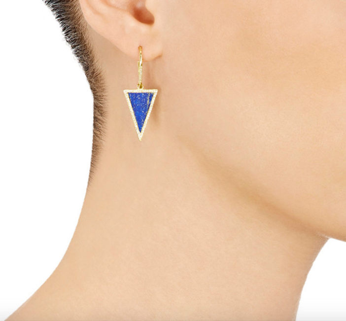 Jennifer Meyer Triangle-Drop Earrings 2