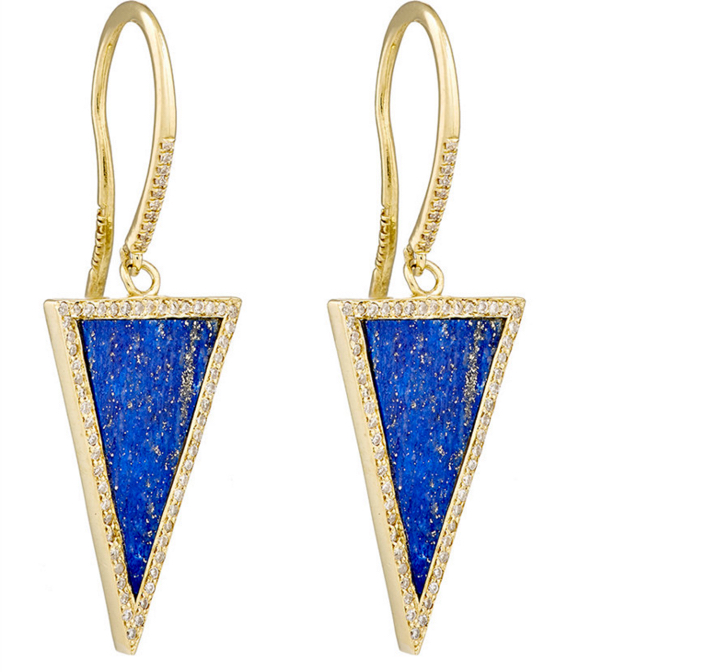 Jennifer Meyer Triangle-Drop Earrings 3