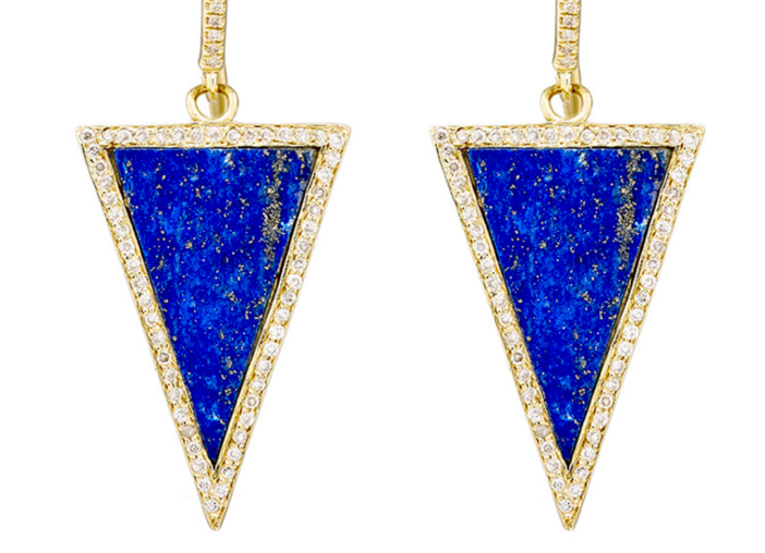 Jennifer Meyer Triangle-Drop Earrings