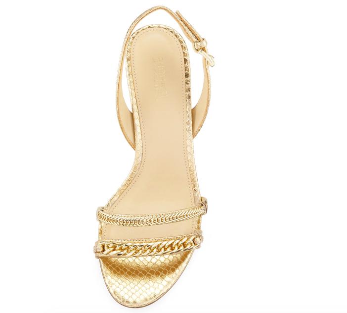 MICHAEL Michael Kors Jackie Chain-Link Mid-Heel Sandal 2