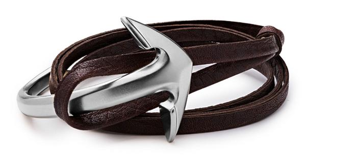 Miansai Men's Anchor Half-Cuff Leather Bracelet 2
