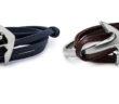 Miansai Men's Anchor Half-Cuff Leather Bracelet 3