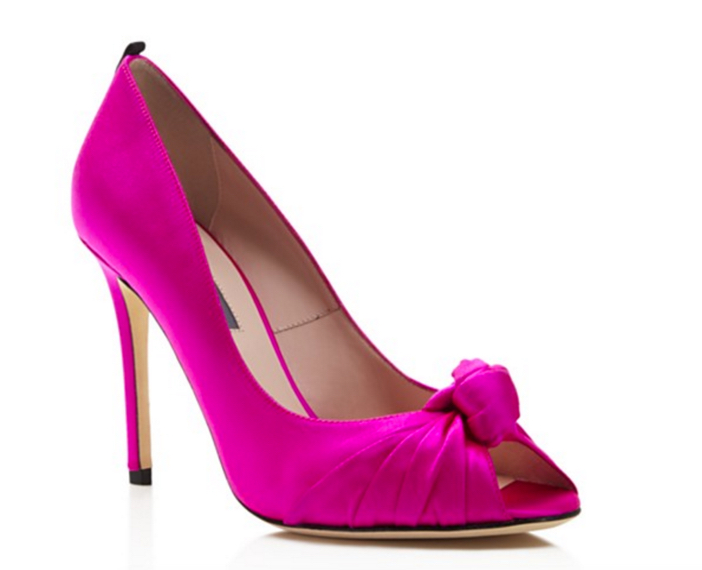 SJP by Sarah Jessica Parker Gabrielle Knotted Peep Toe High Heel Pumps