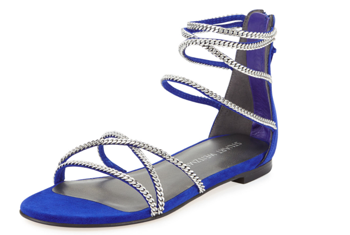 Stuart Weitzman Chaindown Strappy Flat Sandal 2