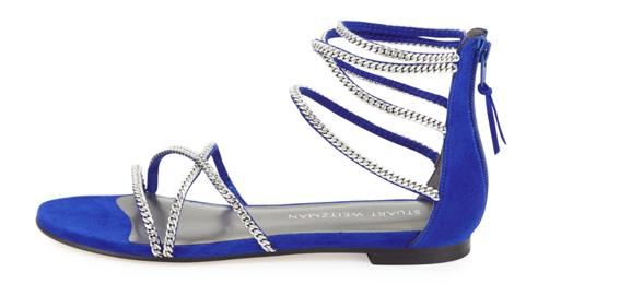 Stuart Weitzman Chaindown Strappy Flat Sandal 3