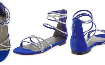 Stuart Weitzman Chaindown Strappy Flat Sandal