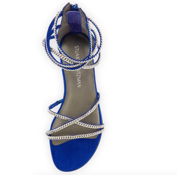 Stuart Weitzman Chaindown Strappy Flat Sandal 4