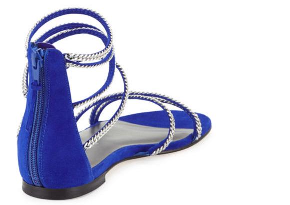 Stuart Weitzman Chaindown Strappy Flat Sandal 5