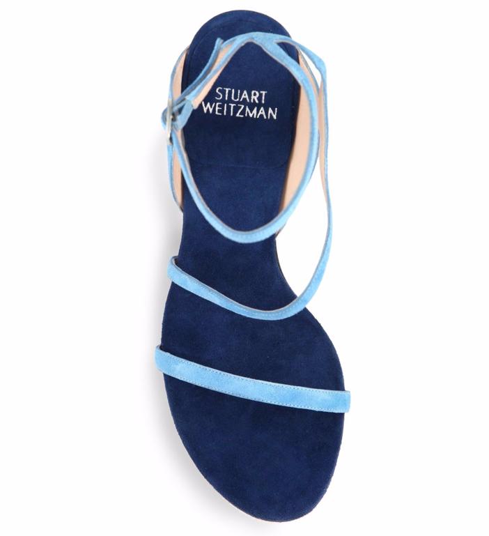 Stuart Weitzman Sultry Asymmetric Suede Sandals 3