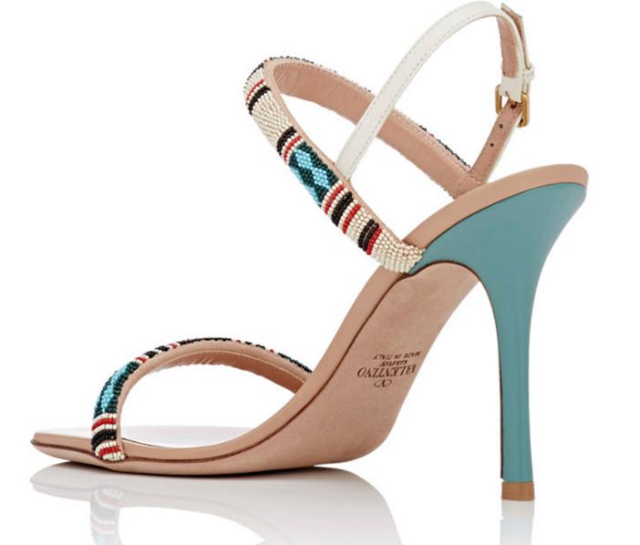 VALENTINO Beaded Stiletto Sandals 2