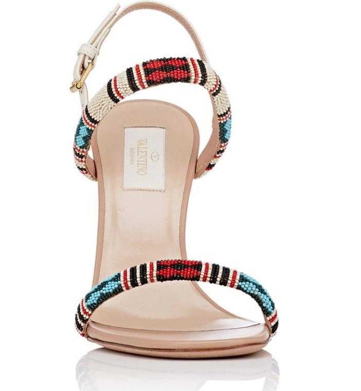 VALENTINO Beaded Stiletto Sandals 3