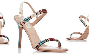 VALENTINO Beaded Stiletto Sandals 5
