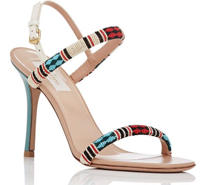 VALENTINO Beaded Stiletto Sandals