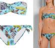 ANNA SUI Pineapple Printed Bandeau Bikini 4