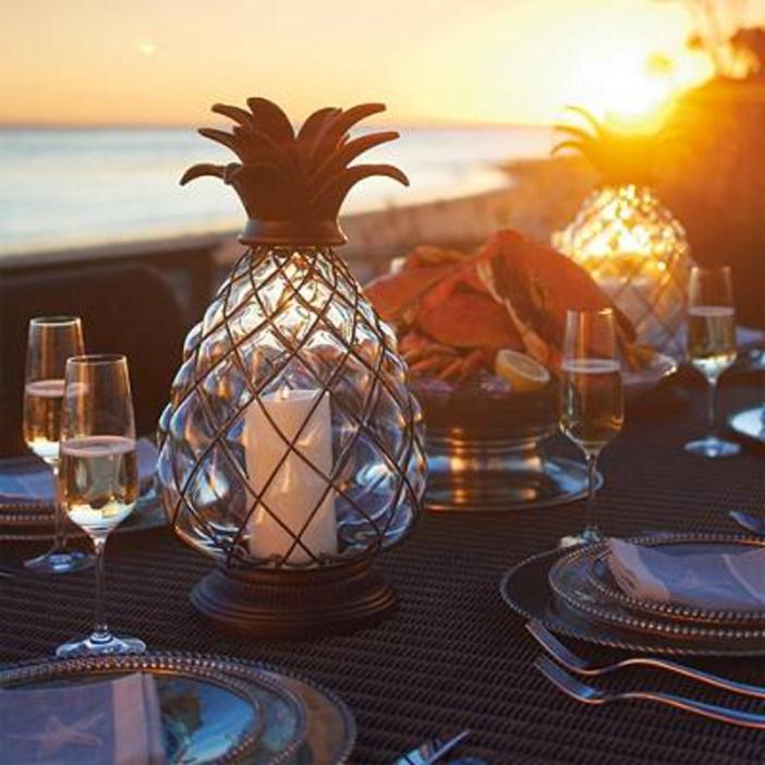 Frontgate Pineapple Lantern 3