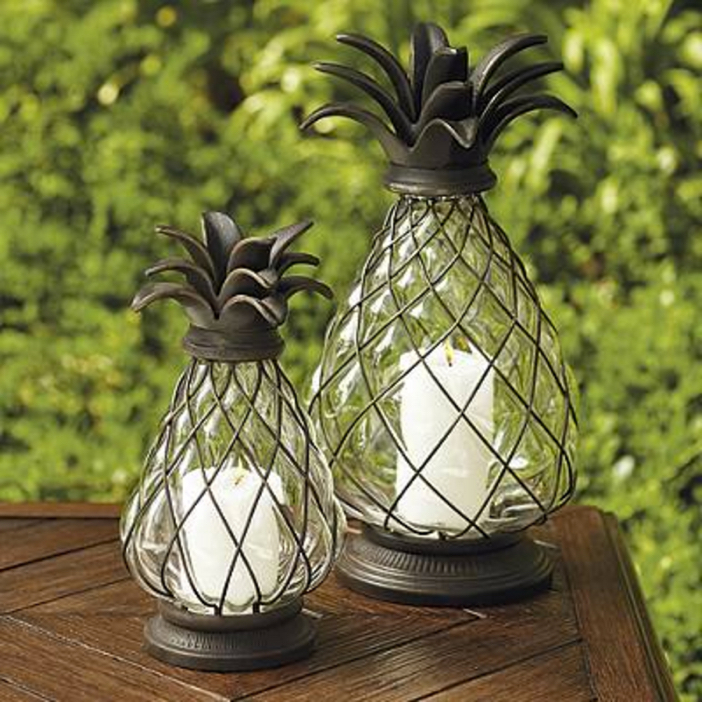 Light up the night with frontgate s pineapple lanterns for Pineapple outdoor decor