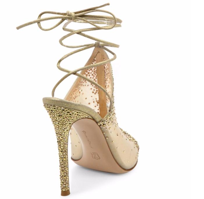 Gianvito Rossi Etoile Mesh & Crystal Mule Sandals 2