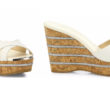 Jimmy Choo Perfume 120 Leather Cork Wedge Slides 4
