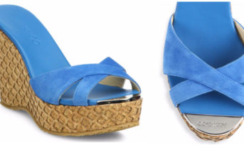 Jimmy Choo Perfume 120 Suede Cork Wedge Slides 5