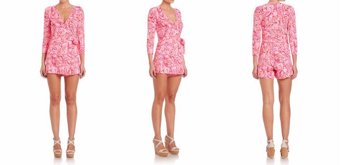 Lilly Pulitzer Karlie Wrap Short Jumpsuit