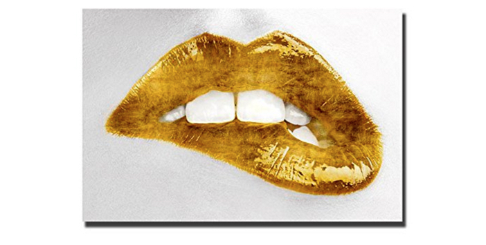 Luscious Gold Lips by Sarah McGuire