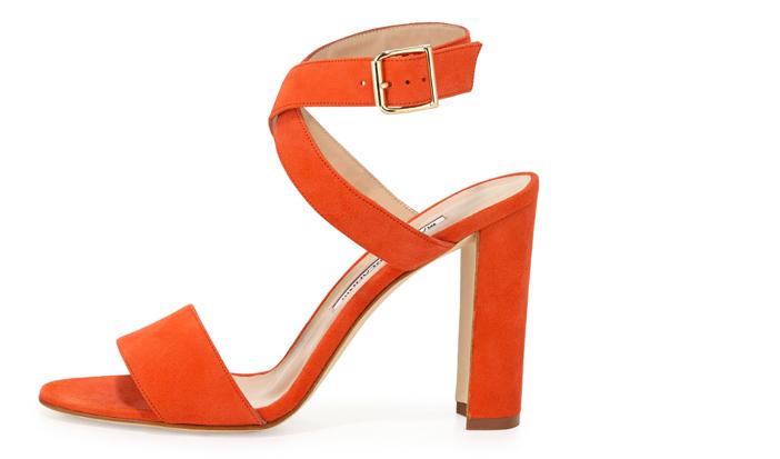 Manolo Blahnik Tondala Suede Ankle-Wrap Sandal 2