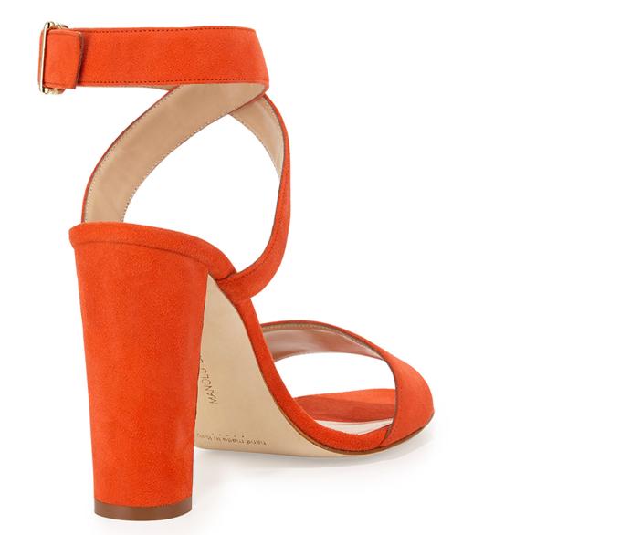 Manolo Blahnik Tondala Suede Ankle-Wrap Sandal 3