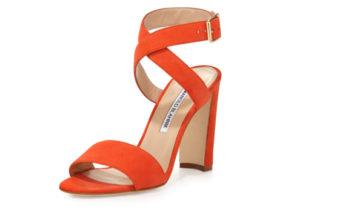 Manolo Blahnik Tondala Suede Ankle-Wrap Sandal 4