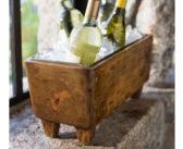 Pottery Barn Blonde Wood Wine Trough
