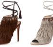 Aquazzura Fringed Suede Ankle-Tie Sandal 5