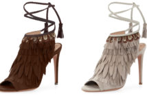 Aquazzura Fringed Suede Ankle-Tie Sandal 5