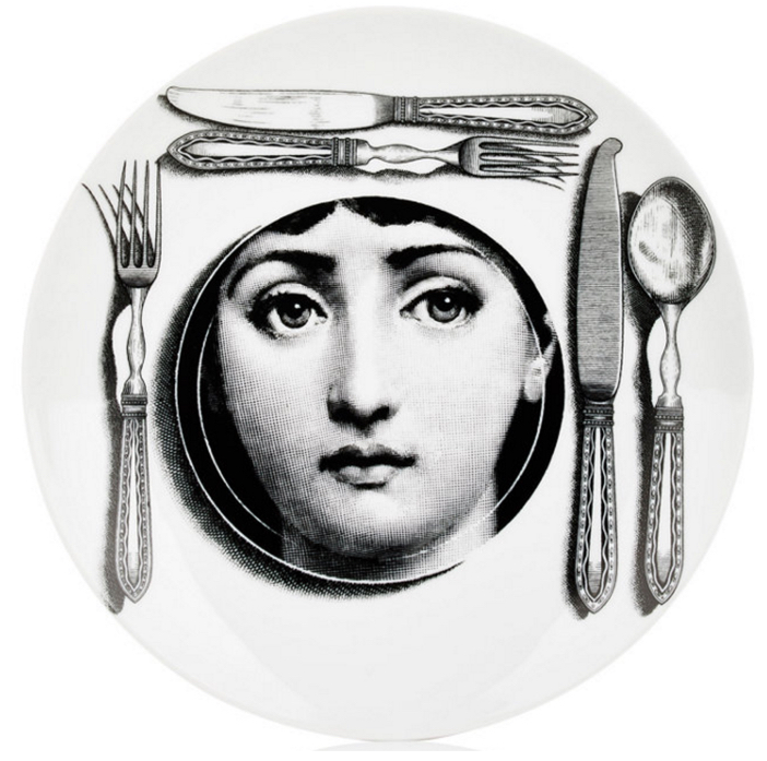 FORNASETTI Place Setting Plate