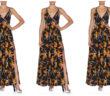Fendi Bird of Paradise Crisscross-Back Ruffled Dress 4