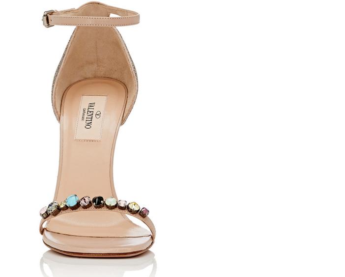 Valentino Embellished Ankle-Strap Sandals 2