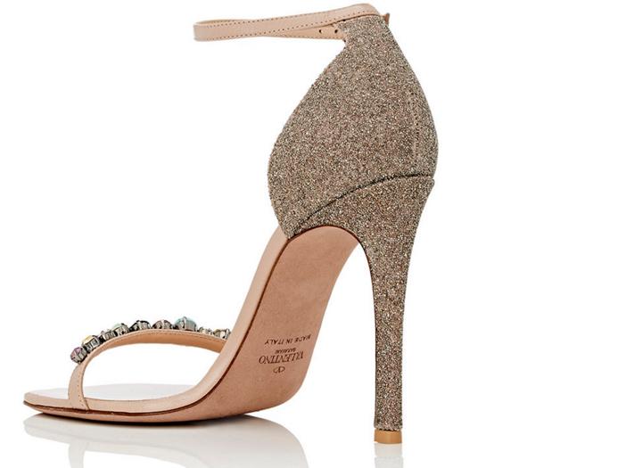 Valentino Embellished Ankle-Strap Sandals 4