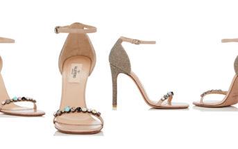 Valentino Embellished Ankle-Strap Sandals 5