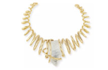 Alexis Bittar Spiral Collar Necklace with Rock Crystal Nugget 3