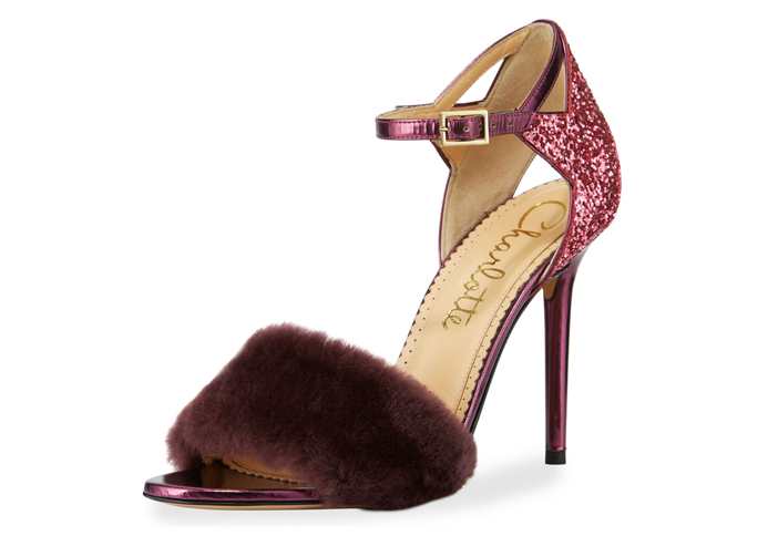 Charlotte Olympia Capella Fur d'Orsay Sandal