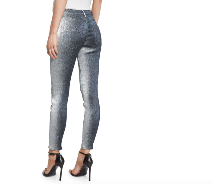 Monse Metallic Slim-Leg Jeans 2