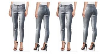 Monse Metallic Slim-Leg Jeans 4