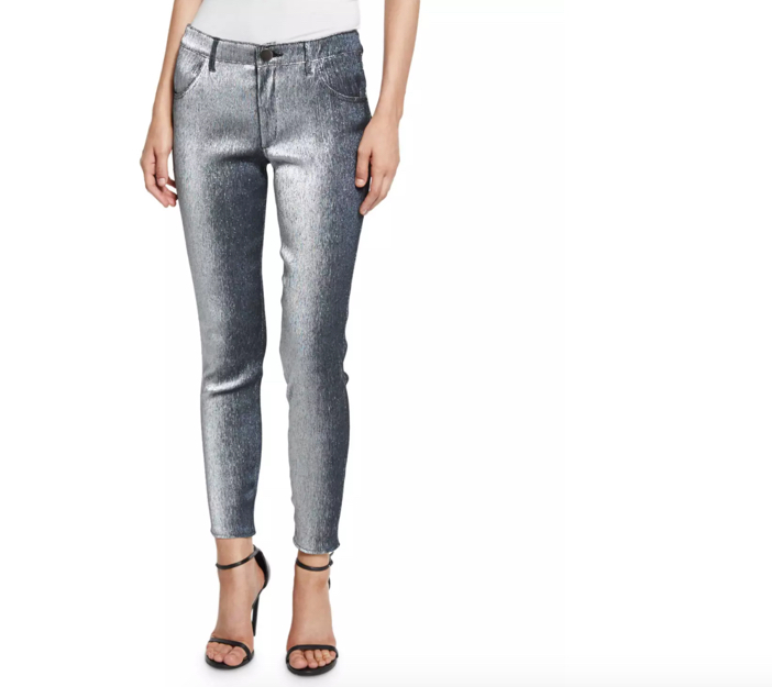 Monse Metallic Slim-Leg Jeans