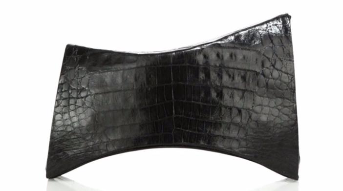 Nancy Gonzalez Angular Crocodile Clutch