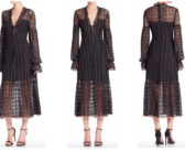 Nanette Lepore Rhapsody Ruffle Hem Midi Dress