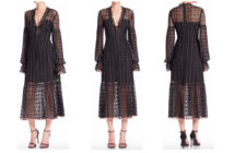Nanette Lepore Rhapsody Ruffle Hem Midi Dress 4