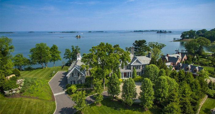 Georgian Colonial Mansion estate of the day: $11.9 million elegant waterfront georgian