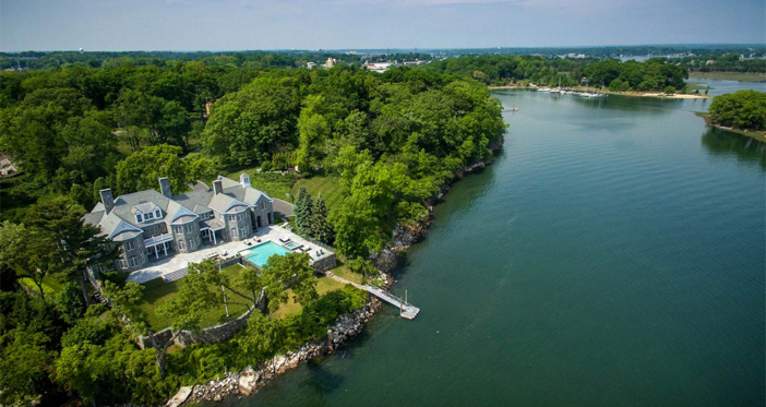 $11.9 Million Elegant Waterfront Georgian Colonial Mansion in Connecticut 5