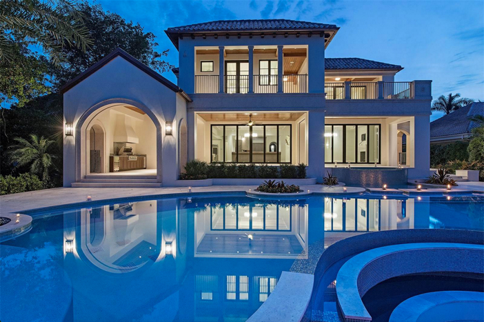 $14.5 Million Waterfront Cutlass Cove Beach Cove Estate in Naples Florida
