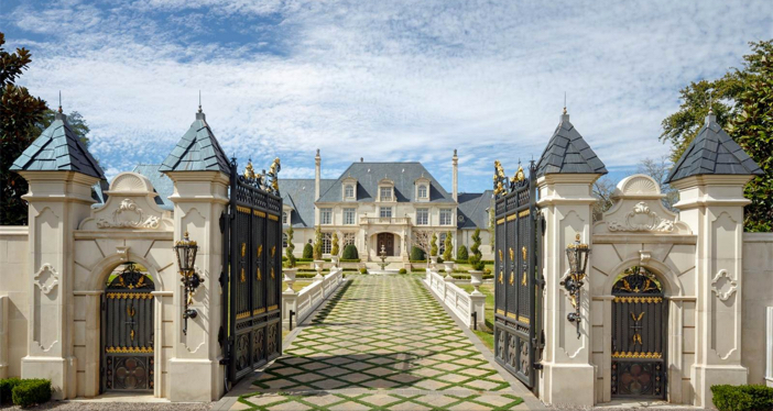 Estate of the day 32 million opulent french mansion in for Mansions in dallas tx