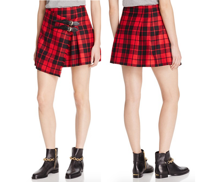 Burberry Plaid Wool Mini Skirt 2