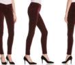 J Brand Mid Rise Velvet Skinny Jeans 2